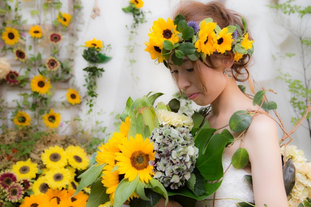 花冠 花ドレス